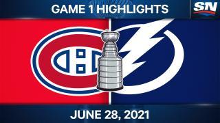 Kucherov scores twice as Lightning take Game 1 over Canadiens