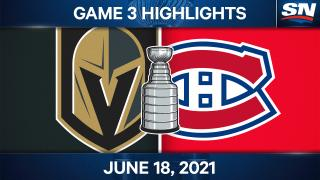 Anderson scores twice as Canadiens stun Golden Knights in Game 3