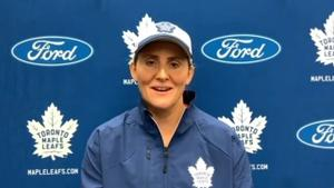 Maple Leafs' Wickenheiser on what the next step is for Nick Robertson