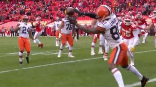Mayfield throws pinpoint pass to Landry for Browns touchdown