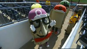 Pirates broadcaster competes as Oliver Onion and wins the Great Pierogi Race