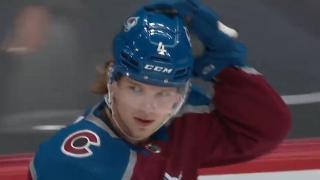 Bowen Byram goes top corner for first NHL goal