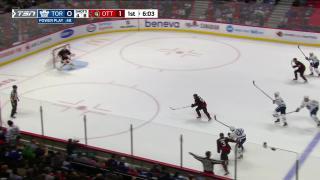 Goaltender Save by Anton  Forsberg