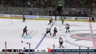Goaltender Save by Elvis Merzlikins