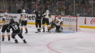 Danault tips home his first goal for the Kings