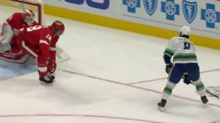Conor Garland snipes goal top corner for first with Canucks