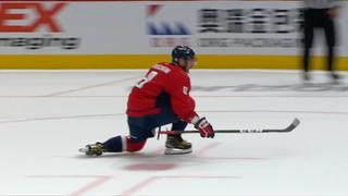 Ovechkin rips a shot from the slot to get past Vasilevskiy