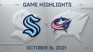 NHL Highlights: Blue Jackets 2, Kraken 1 (OT)