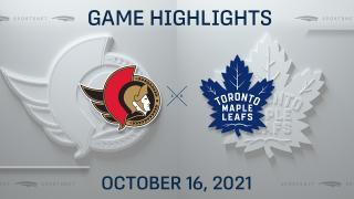 NHL Highlights: Maple Leafs 3, Senators 1