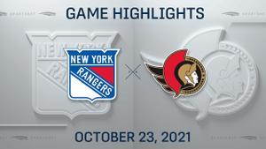 NHL Highlights: Rangers 3, Senators 2