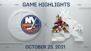 NHL Highlights: Islanders 3, Coyotes 0