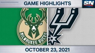 NBA Highlights: Bucks 121, Spurs 111