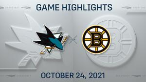 NHL Highlights: Bruins 4, Sharks 3