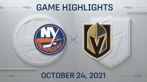 NHL Highlights: Islanders 2, Golden Knights 0