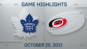 NHL Highlights: Hurricanes 4, Maple Leafs 1